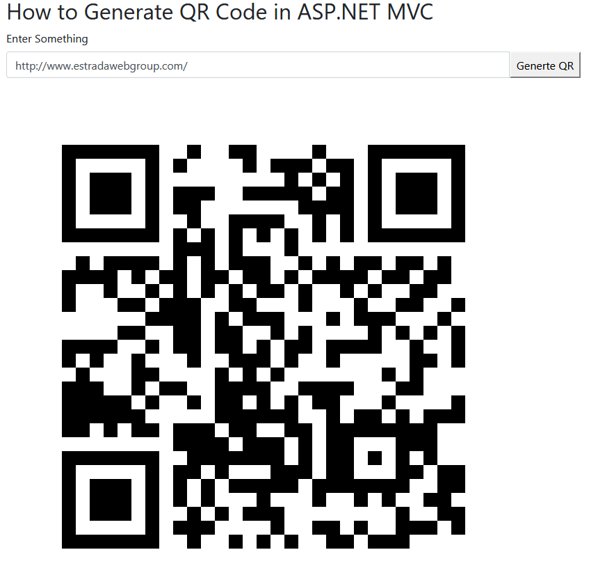 How to generate QR codes with ASP NET MVC?