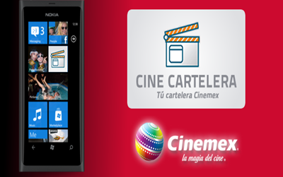 Cartelera Cinemex en tu celular con Windows Phone