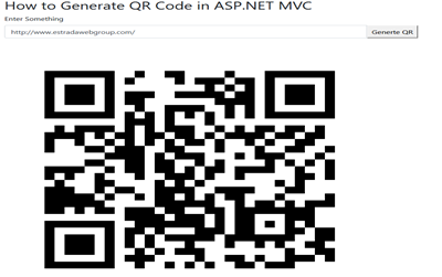 How to generate QR codes with ASP.NET MVC?
